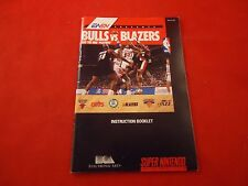 Bulls vs Blazers and the NBA Playoffs Super Nintendo SNES Instruction Manual