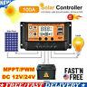 US 100A 12V/24V MPPT Solar Panel Regulator Charge Controller Auto Focus Tracking