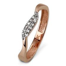 SilberDream Gold Ring welle Zirkonia weiß Gr.54 333er RoseGold GDR501E54