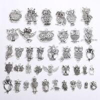 Retro Metal Animals Owl DIY Pendant Jewelry Ethnic Style Charms Handmade Making