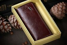 Braun Buffel Leather Key Holder Case Wallets Housekeeper Manager Key Bag Brown