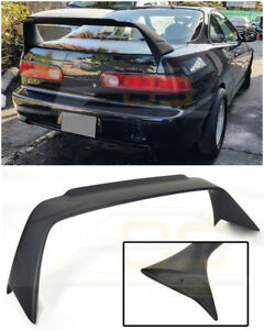 MUGEN Style PRIMER BLACK Rear Trunk Lid Wing Spoiler For 94-01 Acura Integra DC2