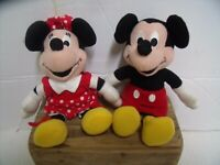 """Mickey & Minnie Mouse 6"""" stuffed plush dolls Disney Cute for Easter Ships Free"""