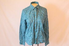Women's Blue-Patterened Long-Sleeved Shirt by American Eagle Outfitters - Size S