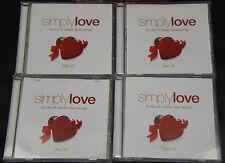 Simply Love  4 CD Album Box Set Of Classic Love Songs - Frank, Dean, Nina & More