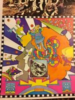 Vintage Peter Max Modern Psychedelic Fantasy Colors Pop Abstract Cool Rare Art