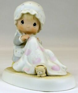 Precious Moments 'Love Covers All' Figurine   1984   USED