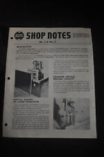 Shopsmith Shop Notes #1, #2 & #3