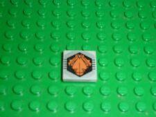 Tile 2 x 2 with Black and Orange UFO Logo Pattern' 3068bpx26 Set 6975/6979/6836.