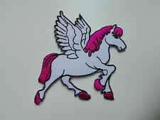 Aufnäher Aufbügler Patch Kinder Pferd Flügel Flicken Nähen Bügelbild