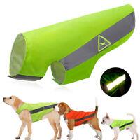 Gilet de sécurité réfléchissant pour chien imperméable Vert Orange HI-VIZ XS-5XL