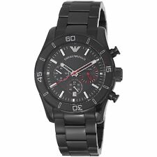 NEW EMPORIO ARMANI SPORT BLACK DIAL STAINLESS STEEL CHRONOGRAPH MEN WATCH AR5931