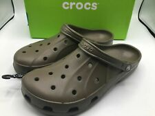 CROCS Ralen clogs Men's Size 13 Roomy Fit Brown BROWN New Tags Pool Summer Shoes