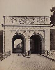 c1863 Eugène CUVELIER vue de ARRAS La Porte Randon Baudimont Albumen EXC