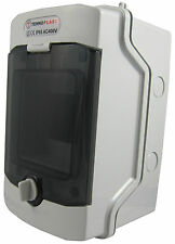 Sicherungskasten Aufputz IP65 Feuchtraum Verteiler Gehäuse 1-reihig 4 Module NEU