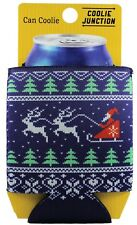 Christmas Pattern Neoprene Collapsible Can Coolie, Ugly Sweater Holiday Party
