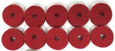 """Ahead Red Wool Cymbal Felts, 10 pack 1.5"""" x .5"""""""
