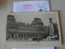 carte postale  vers 1900  paris place du carroussel