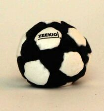 Zeekio Footbag - The Foot Pro - 32 Panel - Sand Filled - Black and White