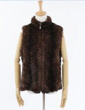 100%Real Genuine Knitted Mink Fur Vest Gilet Waiscoat Coat Sweater Handmade Warm