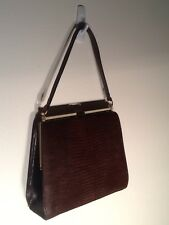 New listing Vintage Marquise Brown Lizard Purse Handbag Mint Condition