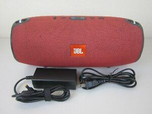 JBL Xtreme Splashproof Bluetooth Portable Speaker - Red (New Battery Installed)