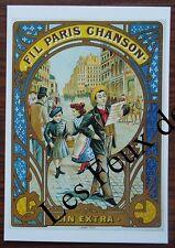 Carte postale Fil Paris chanson,Lin Extra   bibliotheque Forney  CPSM