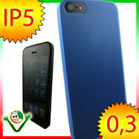 Custodia super sottile 0,3mm p Apple iPhone 5 5S SE BLUE TPU ultra SLIM blu slim