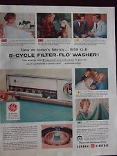 1959 General Electric 5-Cycle Filter-Flo Washing Machine Advertisement