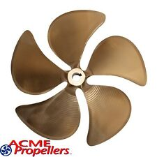 """Acme 14.5 x 14.5 Inboard Propeller Left Hand Nibral Cupped 1 1/8"""" Bore 5 Blade"""