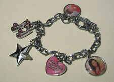 Lovely fun High School Musical Silver tone metal Bracelet with charms