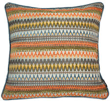 McAlister Textiles Curitiba | Moroccan Orange and Teal Geometric Cushion Covers Cover Only 43cm X 43cm