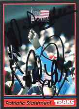 DALE EARNHARDT SR / DAVEY ALLISON / JEFF GORDON - Autographed [sn40] 1991 Traks