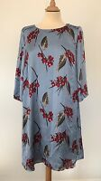 VERO MODA Light Blue Printed Silky Tunic Dress, Size M, BRAND NEW WITH TAGS