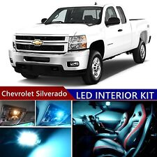 13 pcs LED ICE Blue Light Interior Package Kit for Chevrolet Silverado 2007-2013