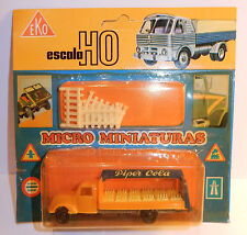 OLD MICRO EKO HO 1/86 1/87 CAMION FORD PIPER COLA idem COCA + BARRIERES IN BOX