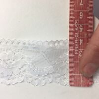 Vintage White Floral Lace Trim /Edging Polyester 40mm Non Stretch Per 2mtrs