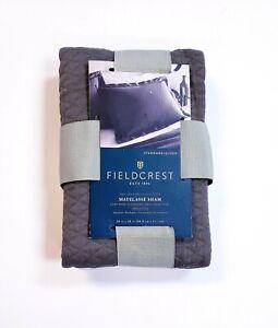 Fieldcrest Luxury Diamond Matelasse Molten Lead Gray Standard/Queen Pillow Sham
