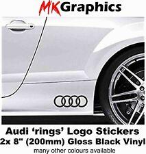 Audi Rings Stickers 2x 200mm black Vinyl Audi TT A3 A4 A5 A6 Q5 Q7 RS3 RS6 R8