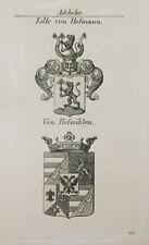 1847 Wappen Adelige Von Hofmann von Hofmihlen Kupfer von Tyroff Coat of Arms