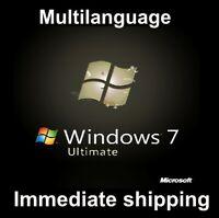 Windows 7 Ultimate - Multilanguage - 32/64bit - ESD - Original 100%