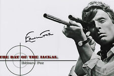 EDWARD FOX Signed 12x8 Photo THE DAY OF THE JACKAL & A BRIDGE TOO FAR COA