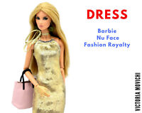Dark Gold Dress for Fashion Royalty and Barbie 12'' dolls