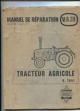 Tracteur RENAULT type R.7051  additif au manuel technique