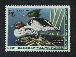 CKStamps: US Federal Duck Stamps Collection Scott#RW61 $15 Mint NH OG