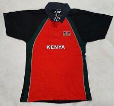 Kenya Flag Rugby Polo Shirt Short Sleeved Tshirt By Airborne. Mens XL