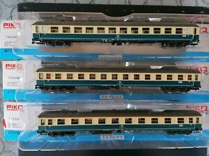 H0 73030 Piko Interzonenzug Schnellzugwagen Personenwagen Set DB Spiele Max...