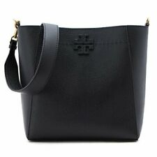 TORY BURCH MCGRAW HOBO Leather Shoulder Bag Black Color 51063-001