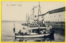 cpa 44 - LE CROISIC en 1900 Le Bassin Barque Promenade BATEAU VOILIER Le PETREL