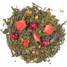 Vert Thé Japans Grüne Kostbarkeiten 100g avec Erbeerstückchen Vert Tea Thé Vert
